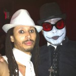 It's Evil time: † The Deacon † and The Harlequin (vocals, Blk Vampires)