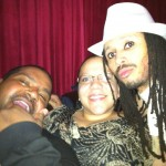 New fans: Greg and Enid Rodriguez with † The Deacon †